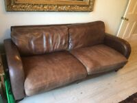Real leather 3 seater sofa