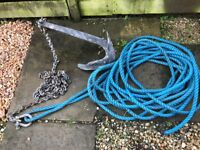 Bruce anchor chain and warp