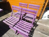 Purple Garden table with 4 chairs - SHED FIND ** Ideal caravan , Garden , Party !!!! cheap Bargain