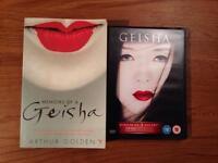 Memoirs of a Geisha DVD and paperback book