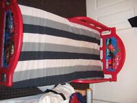 cars toddler with matress *used couple of times*