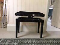 adjustable black ebony wood piano stool