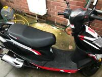 Lexmoto Echo 50CC Moped - Black & Red