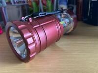 Collapsible spotlight lantern