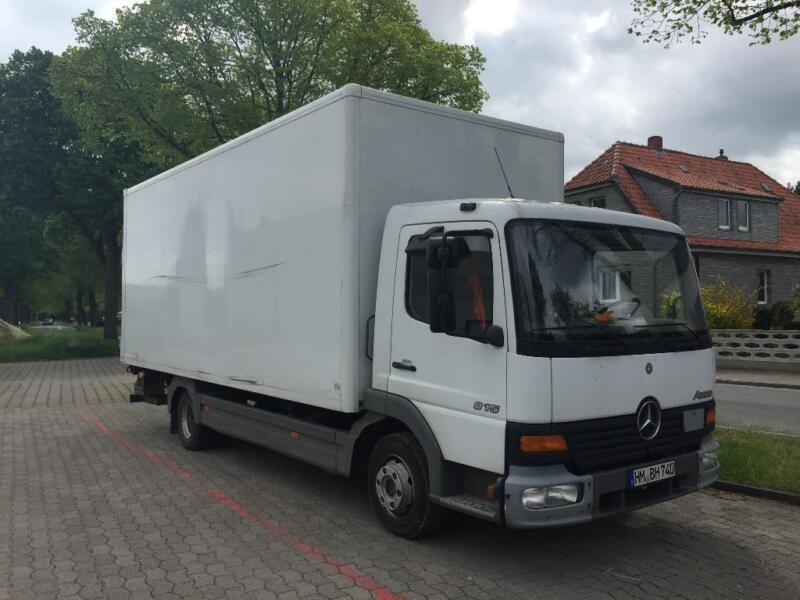 mercedes benz atego 815 koffer in niedersachsen hameln pkw anh nger gebraucht kaufen ebay. Black Bedroom Furniture Sets. Home Design Ideas