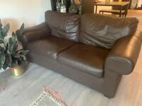 Free faux leather two seater sofa
