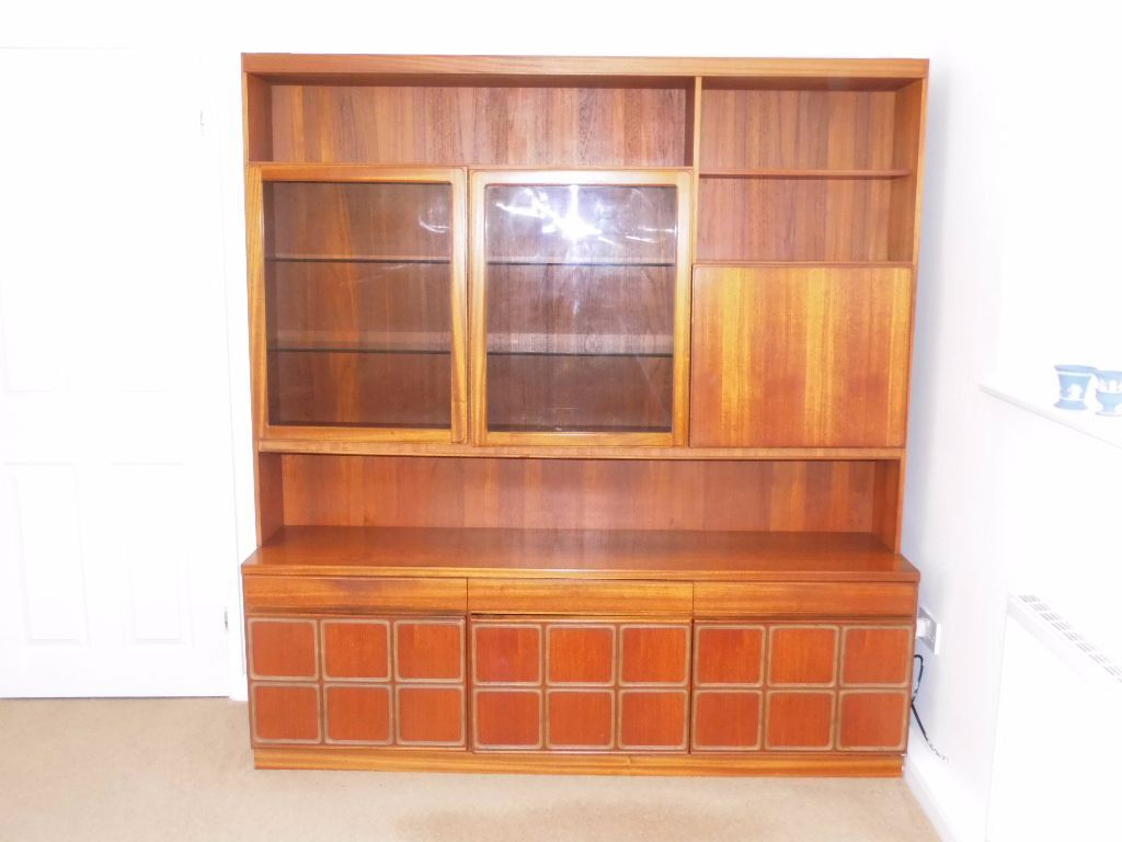 Wall Unit Light Bulbs : G PLAN Wall Unit and Display Unit with lighting - large with cabinet - will sell base separately ...