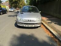 Peugeot 206 for sell, long MOT, low mileage, drives well, cheap.