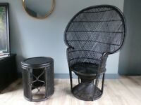 vintage chair and table set.