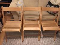 5 x folding dining chairs