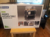 BARGAIN: BRAND NEW OUTWELL PADRES KITCHEN TABLE BAMBOO TOP