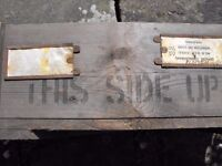 Two vintage wooden packing crates
