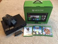 XBox One 500GB with games and controllers
