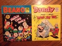 Vintage 1987 dandy and beano