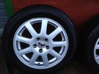 """Ford Mondeo 5 stud alloys/ tyres """". 205/55/16s"""