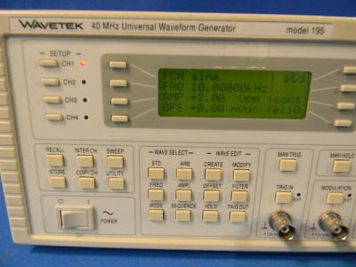 Wavetek 195 16 Mhz Universal Waveform Generator With Option 001