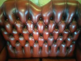 Chesterfield highback sofa settee oxblood Deliv Poss