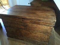 Lovely old carpenters tool chest.