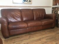 X 2 3 seater genuine Italian brown leather George st furnisher sofas