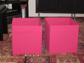 Ikea storage boxes - pink