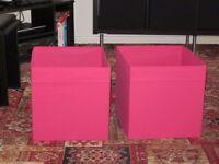 Ikea storage boxes - pink