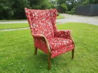 Comfy Parker Knoll Wingback Armchair