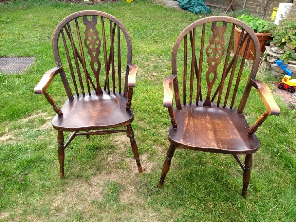Pair Of Old Fashioned Wooden Carver Type Dining Chairs 20 For Both In Honley West Yorkshire Gumtree