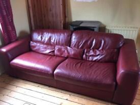 Violino 3 seat leather sofa