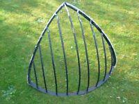 antique metal corner hay rack bygone