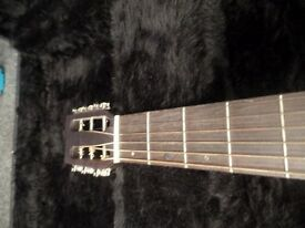 Farida Semi-Acoustic Guitar - Dark
