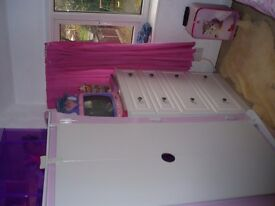 Kidsaw single kids bed and wardrobe