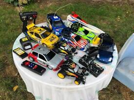 Collection of x8 Rc children's toys