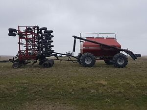 36 foot Concord air seeder and tank