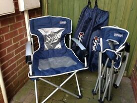 Folding Camping Chairs x 2 Vango with carrying covers. Excellent condition