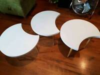Vintage Retro Style Scandi Style Nest of 3 Tables Side tables
