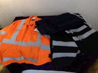 Job Lot Work Ware All Brand New 3 Trousers, 1 Hazard Protection Jacket