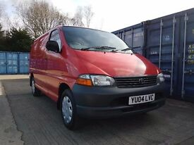2004 TOYOTA HIACE 280GS POWERVAN SWB VAN RED MOTD 3 OWNERS VERY CLEAN RECENT CAMBELT/SERVICE