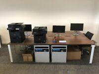 MODERN 4 BENCH OFFICE DESKS - ADAPT II RANGE
