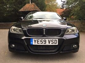 BMW 3 Series M Sport 318D Black Auto FBMWSH 52K Low Mileage Quick Sale Part Exchange Welcome