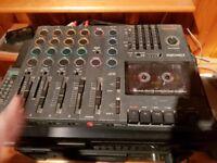 vintage Tascam porta 07 mini music studio instrument guitar track mixer cassette Ps-P2