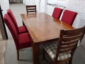 Mark Webster EX SHOWROOM Kember Extending Dining Table + 6 Chairs RRP £1399