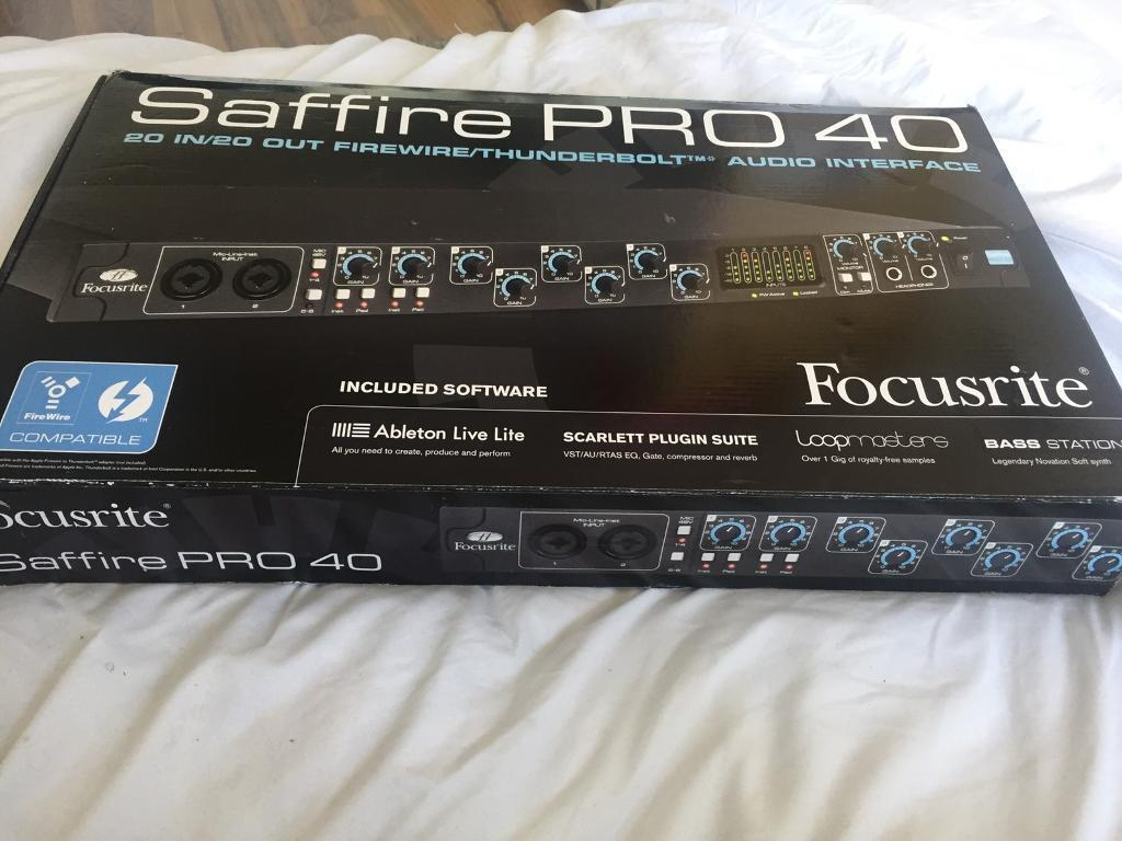 Brand new Focusrite saffire Pro 40 audio interface