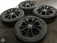 "GENUINE MERCEDES C CLASS 17"" ALLOY WHEELS & TYRES - 5 x 112"