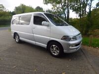 SOLD TOYOTA REGIUS HIACE LUXUARY 3.0 TD 7 SEATER IDEAL CAMPER CONVERSION