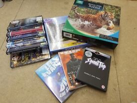 Puzzles, DVDs and games bundle