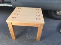 Brand new oak end table