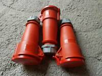 3 x Germany Authentic MENNEKES Industrial Connector TYP 6/IP 240/415V/32A/3P+N+E BEE. Good condition