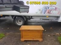 Solid oak blanket box