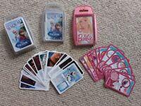 3 TOPS TRUMPS CARDS ~ EX CONDITION & 1 NEW ~ TOY BUNDLE ~ 2 FROZEN & 1 BARBIE ~ 3 FOR £5
