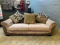 HARVEYS DESIGNER 2 SEAT SOFA WITH SCATTER CUSHION VERY COMFY NICE SMART FREE DELIVERY